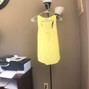 Bright yellow button down tank top